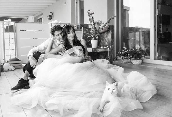 Ảnh cưới dễ thương chụp cùng mèo cưng - Ảnh 7.