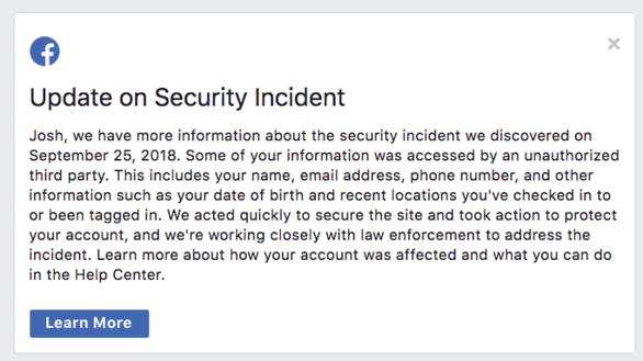 30 triệu tài khoản Facebook bị tấn công, cách kiểm tra tài khoản của bạn - Ảnh 2.