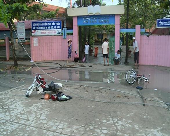 Giám định kỹ vụ rơi dây điện khiến hai học sinh tử vong - Ảnh 1.