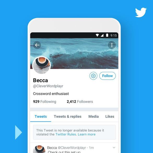 Twitter sẽ 'bêu xấu' công khai những tài khoản tweet 'bậy' - Ảnh 1.