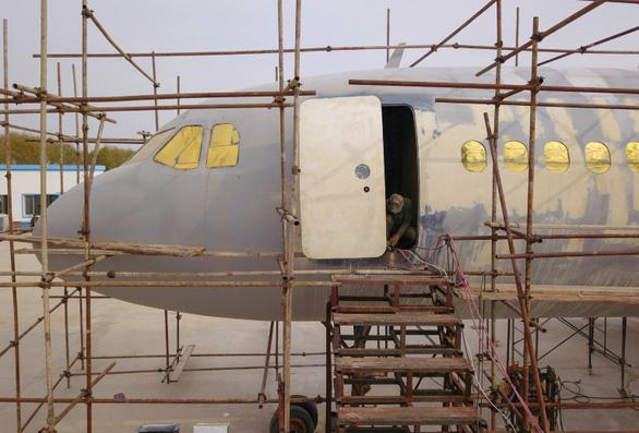 Nông dân trồng tỏi làm được máy bay Airbus như thật - Ảnh 2.