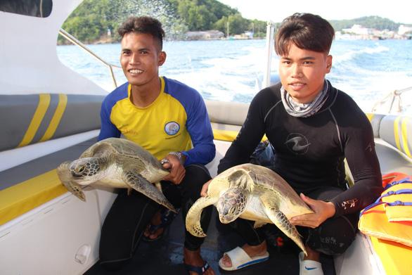 Thả 9 con rùa biển quý hiếm về biển Phú Quốc - Ảnh 2.