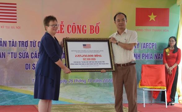 Mỹ tài trợ gần 2,2 tỉ đồng tu sửa di sản Thành nhà Hồ - Ảnh 1.