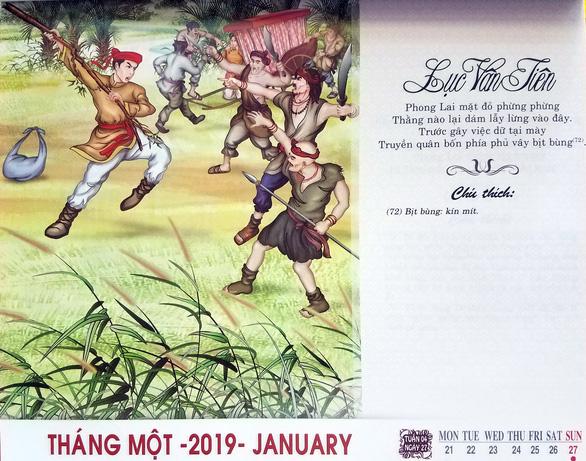 Đưa truyện Lục Vân Tiên vào lịch xuân Kỷ Hợi - Ảnh 1.