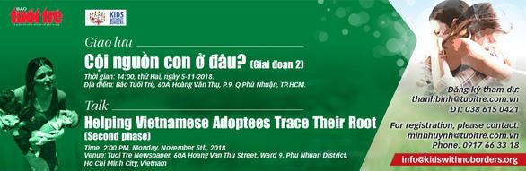 Cội nguồn con ở đâu: Tiếp nối hành trình giúp con nuôi gốc Việt - Ảnh 1.