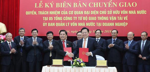 Chuyển giao 5 doanh nghiệp giao thông sang Ủy ban Quản lý vốn nhà nước - Ảnh 1.