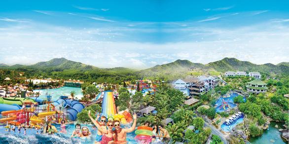 'Công viên Khủng long' tại Công viên suối khoáng nóng Núi Thần Tài - Ảnh 1.