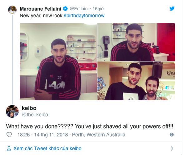 Dân mạng lên cơn sốt với mái tóc mới của Fellaini - Ảnh 4.