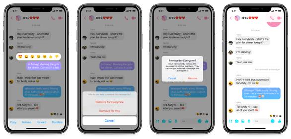 Facebook bắt đầu triển khai nút 'Unsend' trong Messenger - Ảnh 1.