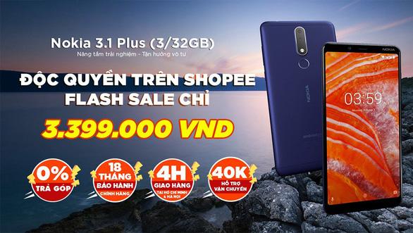Nokia 3.1 Plus được bán độc quyền trên Shopee với giá 3.399.000 đồng - Ảnh 1.