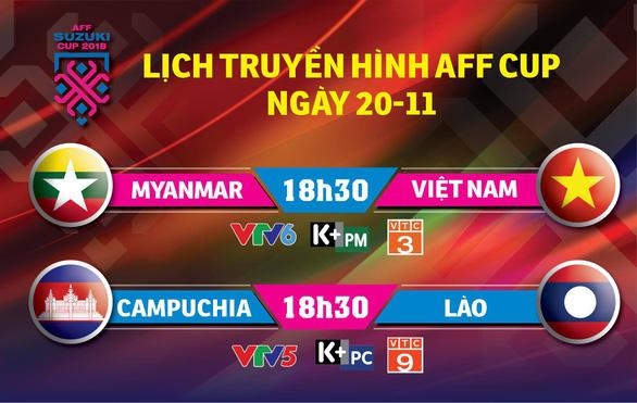 Lịch trực tiếp AFF Cup 2018: Việt Nam và Myanmar tranh vé vào bán kết - Ảnh 1.