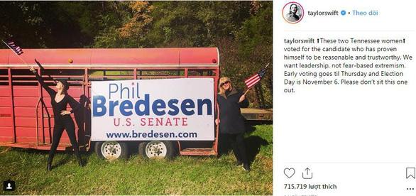 Taylor Swift 'cất tiếng lòng' trước bầu cử giữa kỳ Mỹ - Ảnh 1.