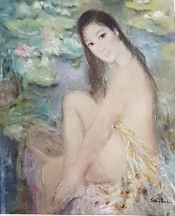 Xem tranh tại triển lãm Lê Thị Lựu - Ấn tượng hoàng hôn - Ảnh 7.