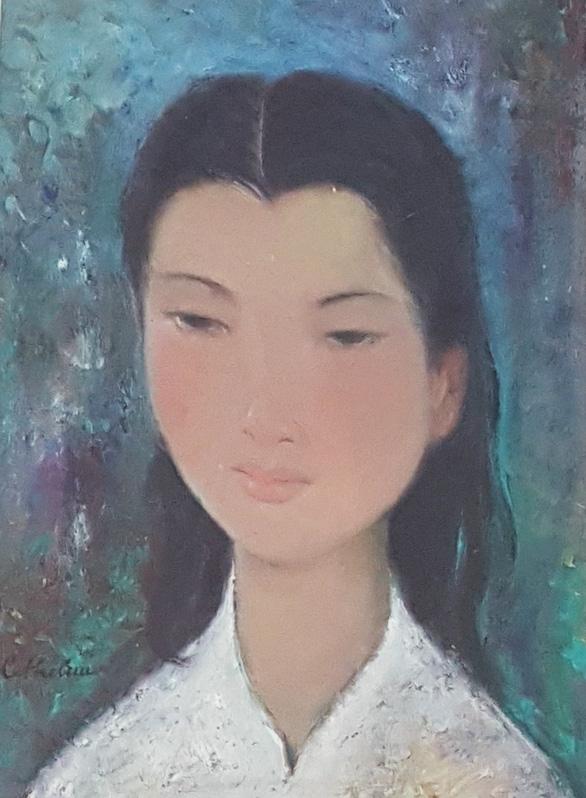 Xem tranh tại triển lãm Lê Thị Lựu - Ấn tượng hoàng hôn - Ảnh 8.