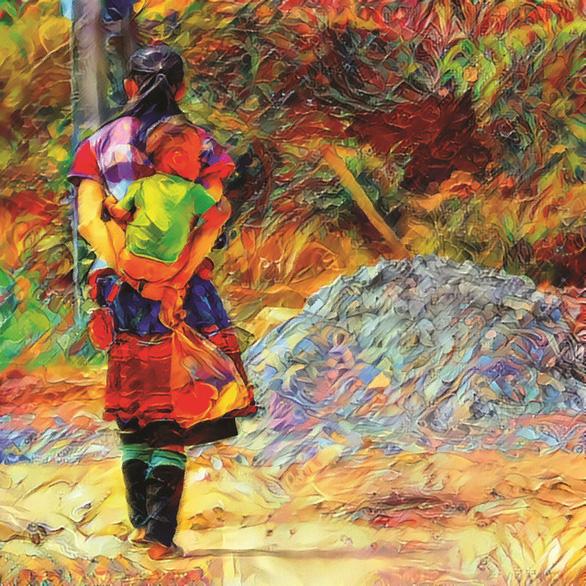 Sửng sốt với những tác phẩm bằng AI của trẻ em miền núi Lào Cai - Ảnh 3.