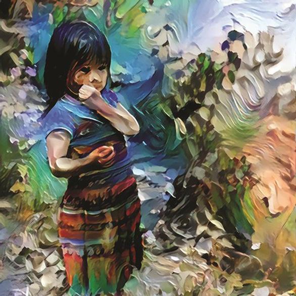 Sửng sốt với những tác phẩm bằng AI của trẻ em miền núi Lào Cai - Ảnh 1.