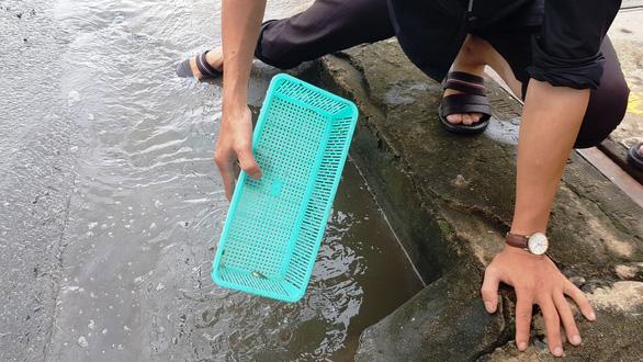 Người dân ven Sài Gòn rủ nhau bắt cá trên đường ngập - Ảnh 6.