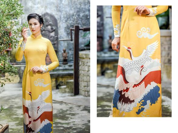 Áo dài Ngọc Hân cảm hứng Đường xưa mây trắng từ thiền sư Nhất Hạnh - Ảnh 4.