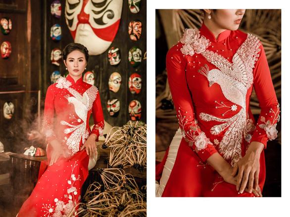 Áo dài Ngọc Hân cảm hứng Đường xưa mây trắng từ thiền sư Nhất Hạnh - Ảnh 11.