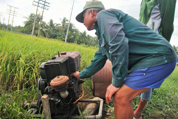 Nông dân Tiền Giang hối hả bơm nước cứu 10.000ha lúa - Ảnh 3.