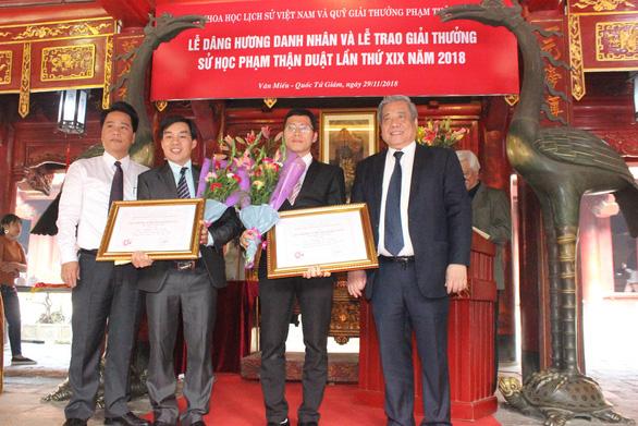 Cháu ngoại GS Phan Huy Lê nhận giải nhất giải thưởng Phạm Thận Duật - Ảnh 3.