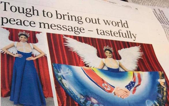 Người đẹp Singapore diện 'quốc phục Trump - Kim'dự Miss Universe 2018 - Ảnh 1.