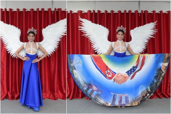 Người đẹp Singapore diện 'quốc phục Trump - Kim'dự Miss Universe 2018 - Ảnh 2.