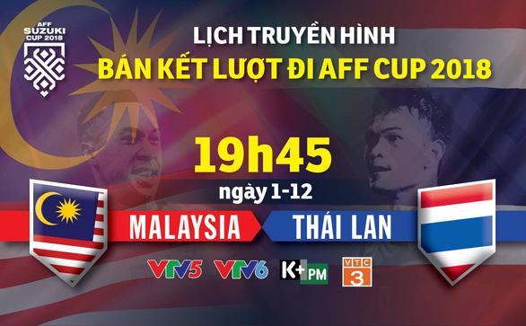 Lịch truyền hình bán kết AFF Cup 2018 ngày 1-12 - Ảnh 1.