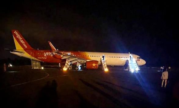 Máy bay Vietjet gặp sự cố