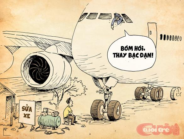 Máy bay mất bánh, hú hồn mà hài hước - Ảnh 2.