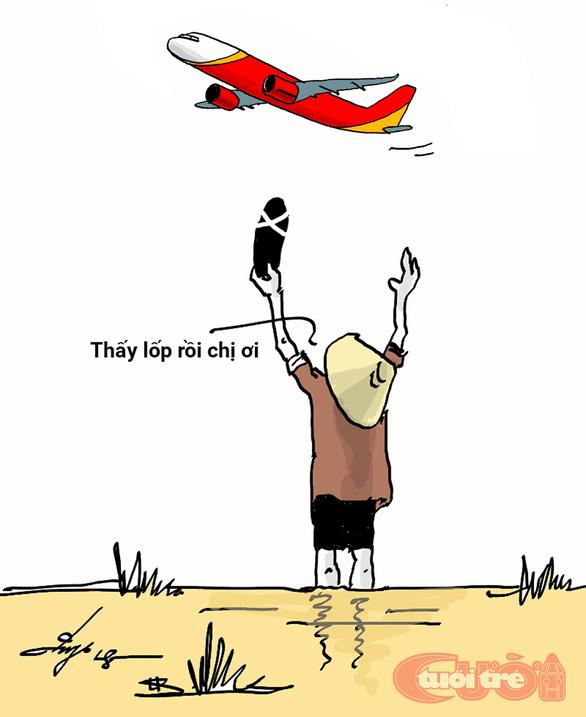 Máy bay mất bánh, hú hồn mà hài hước - Ảnh 5.