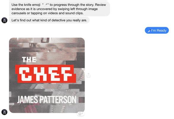Ra mắt tiểu thuyết tương tác đầu tiên trên Facebook Messenger - Ảnh 1.