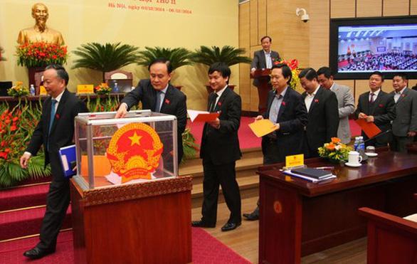 Hà Nội sắp lấy phiếu tín nhiệm 37 lãnh đạo chủ chốt - Ảnh 1.