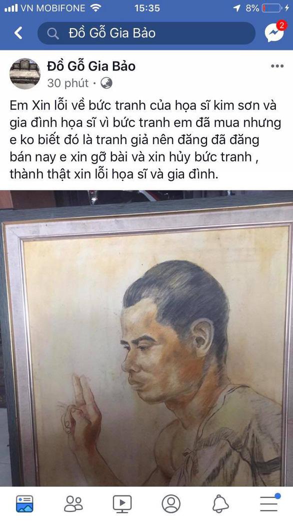 Người bán tranh giả của Nam Sơn xin lỗi và sẽ hủy tranh - Ảnh 1.