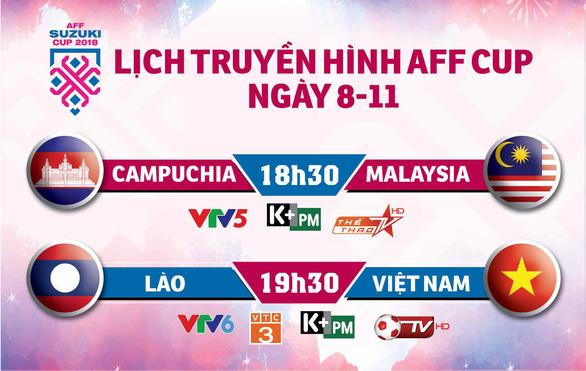 Lịch trực tiếp AFF Cup ngày 8-11 - Ảnh 1.