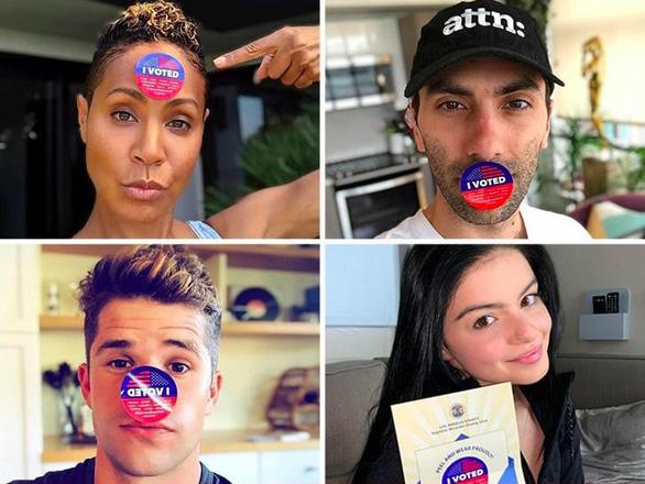 Sao Hollywood rầm rộ khoe bỏ phiếu cho bầu cử giữa kỳ Mỹ - Ảnh 1.