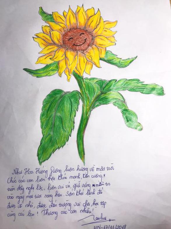 Hàng ngàn đóa hoa hướng dương trên mạng xã hội tặng bệnh nhi - Ảnh 4.