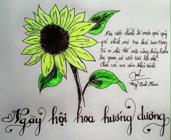 Hàng ngàn đóa hoa hướng dương trên mạng xã hội tặng bệnh nhi - Ảnh 7.