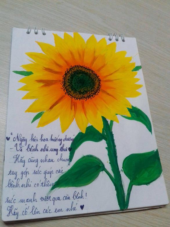 Hàng ngàn đóa hoa hướng dương trên mạng xã hội tặng bệnh nhi - Ảnh 5.