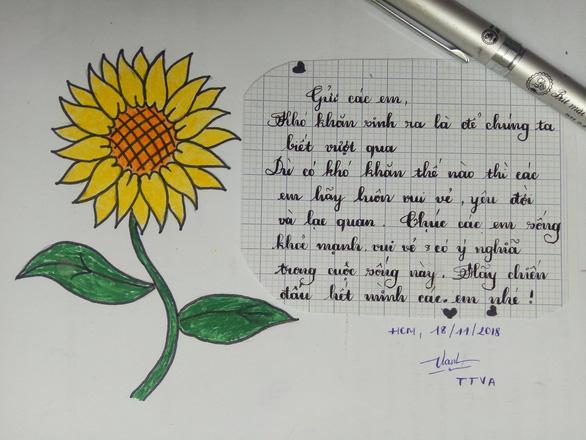 Hàng ngàn đóa hoa hướng dương trên mạng xã hội tặng bệnh nhi - Ảnh 6.