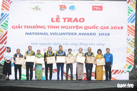 18 cá nhân, tập thể nhận giải thưởng tình nguyện quốc gia 2018 - Ảnh 2.