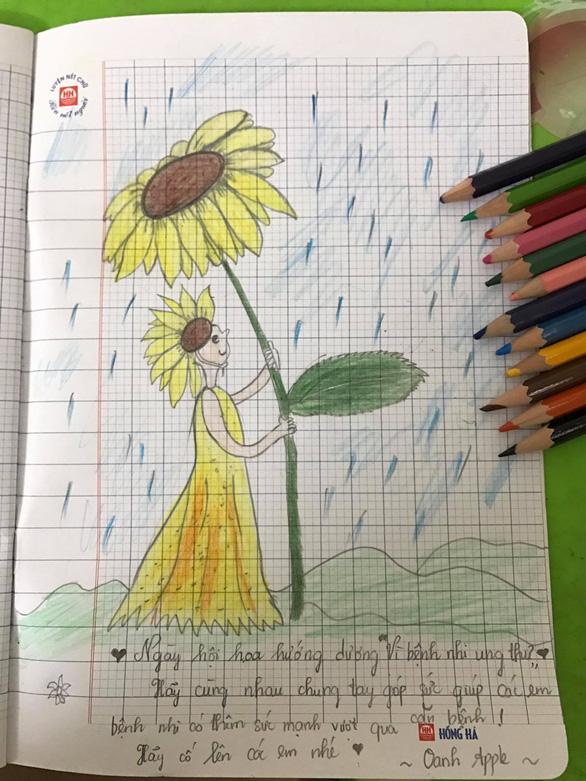 Hàng ngàn đóa hoa hướng dương trên mạng xã hội tặng bệnh nhi - Ảnh 3.
