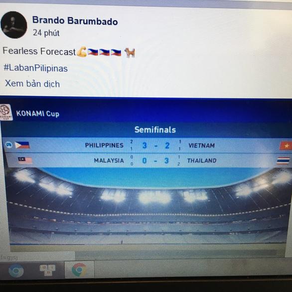 CĐV Philippines chia buồn trước với đội tuyển Việt Nam - Ảnh 1.