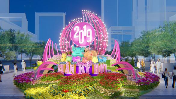 Công bố những nét mới của đường hoa Nguyễn Huệ Tết Kỷ Hợi - Ảnh 1.