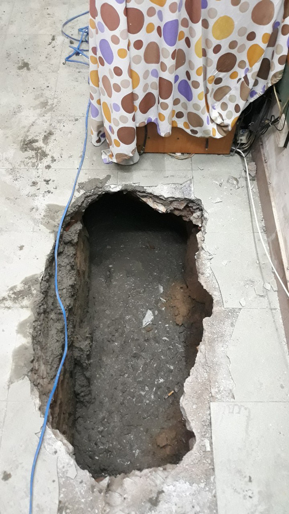 Đào tầng hầm xây nhà làm sụt móng, nghiêng 4 nhà lân cận - Ảnh 3.