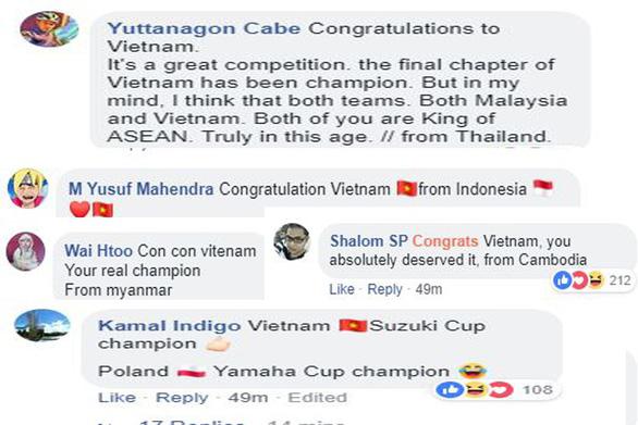 CĐV Hàn Quốc ngay lập tức chúc mừng tuyển Việt Nam vô địch - Ảnh 2.