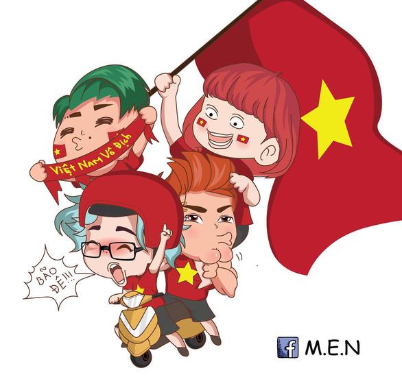 Dân mạng nhuộm đỏ mạng xã hội khi tuyển Việt Nam vô địch - Ảnh 1.
