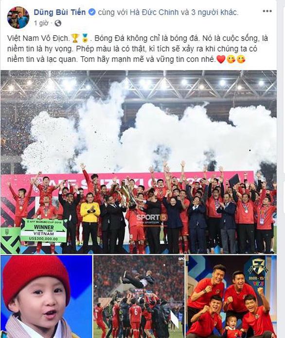 Các tuyển thủ VN viết gì trên Facebook sau khi vô địch AFF Cup? - Ảnh 2.