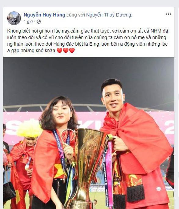 Các tuyển thủ VN viết gì trên Facebook sau khi vô địch AFF Cup? - Ảnh 5.