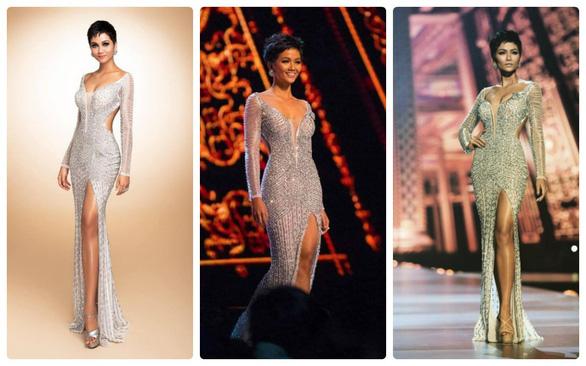 Áo dạ hội đính 3.000 viên đá quý của HHen Niê tại Miss Universe - Ảnh 1.